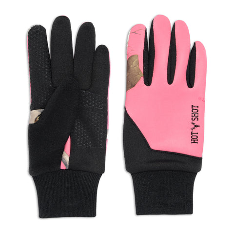 "Ladies' ""Eagle"" Stretch Fleece Glove - Realtree® Exclusives - Bright Pink"