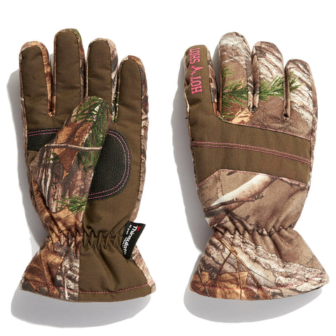 "Youth ""Defender"" Core Hunting Glove Realtree® EDGE™/Pink"