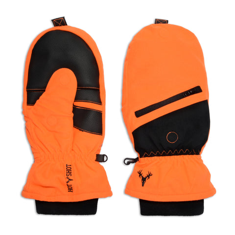 """Huntsman"" Pop-top Mitten - Blaze Orange"