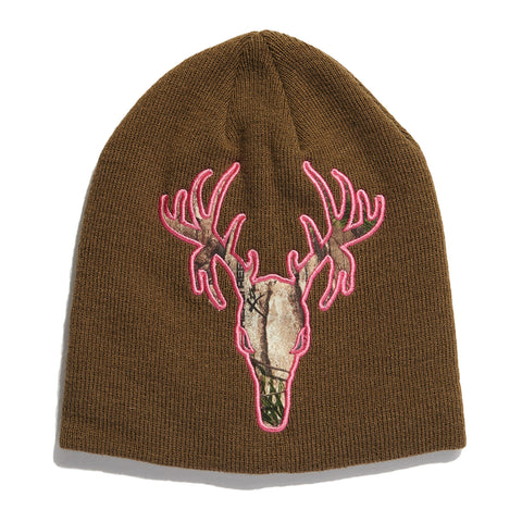 Ladies' Deer Appliqué Beanie