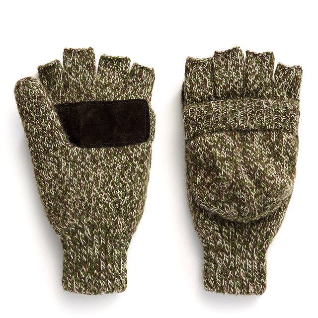 Ragg Wool Pop-Top Mitten