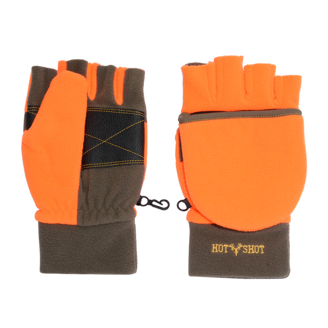 """Bulls-eye"" Pop-Top Mitten - Blaze Orange"