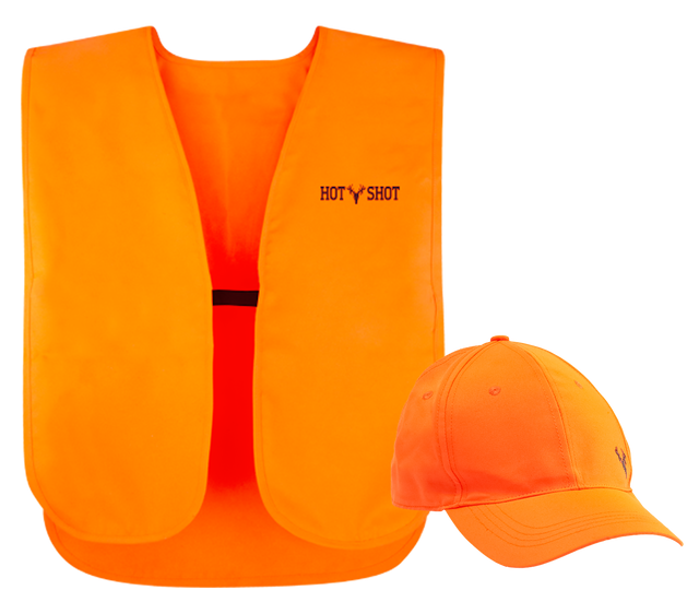 "Hot Shot - ""Utility"" Twill Safety Vest & Ball Cap Combo"