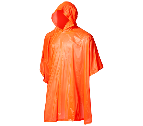 "Hot Shot - ""Utility"" Vinyl Rain Poncho with Hood"