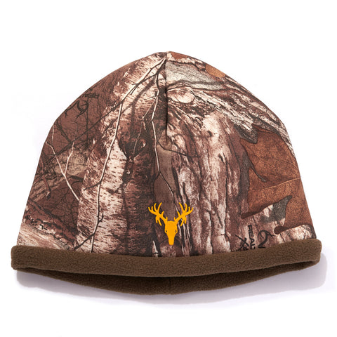 "Youth ""Mustang"" Reversible Stretch Fleece Beanie - Realtree Xtra®/Canteen"