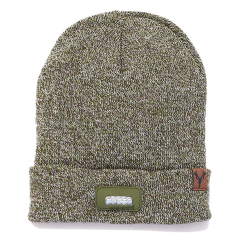 """Bolt"" Lighted Knit Beanie - GREEN CAMO"