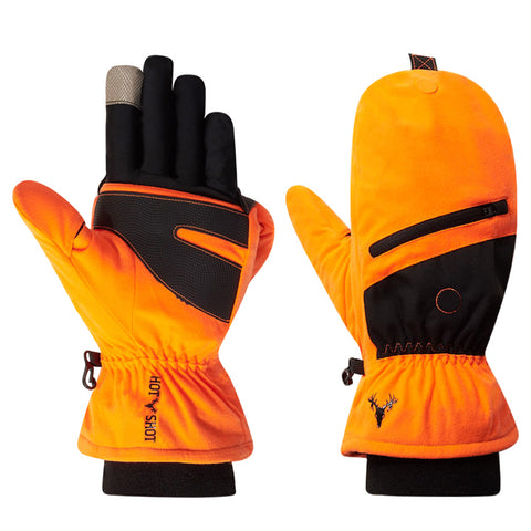 "The ""Huntsman"" Pop-top Mitten - Blaze Orange"