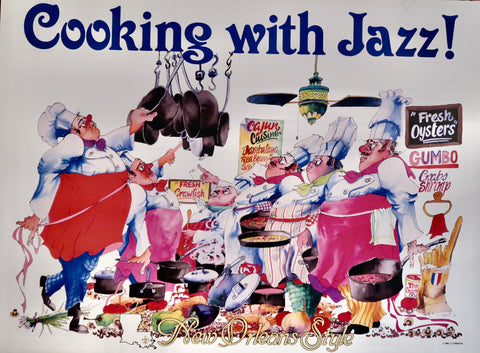 Cooking With Jazz Poster