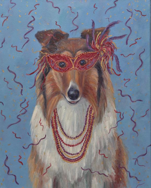 Mardi Gras Mutts: Collie
