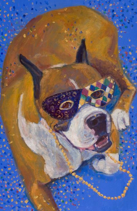 Mardi Gras Mutts: Boxer