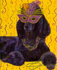 Mardi Gras Mutts: Poodle (Black)