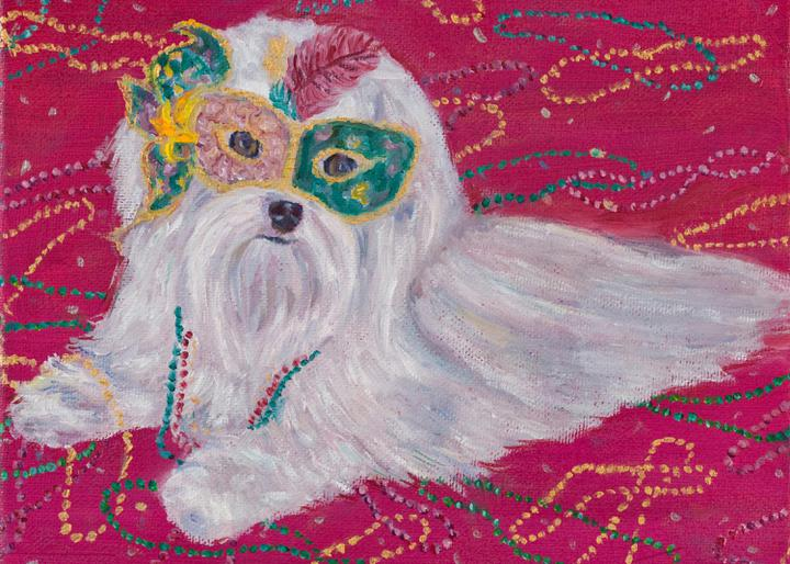 Mardi Gras Mutts: Maltese