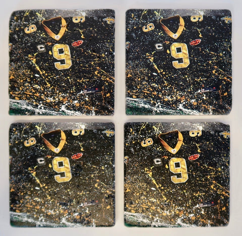 """Drew Brees Coasters"" by Patrick Connick"