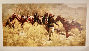 Native Americans and Horses Poster