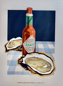 Tabasco and Oysters Poster by Ron Picou