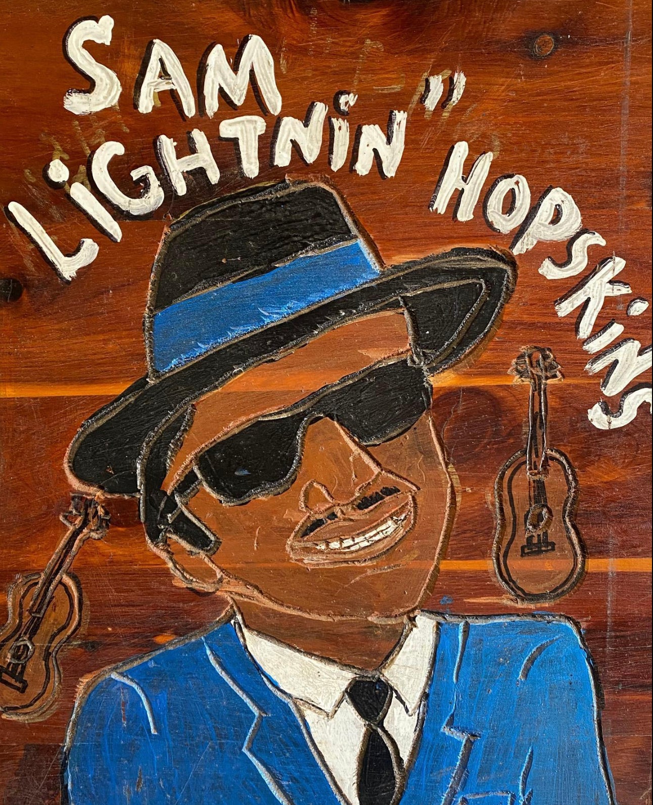 """Sam Lightnin Hopkins"" by Charles Gillam"