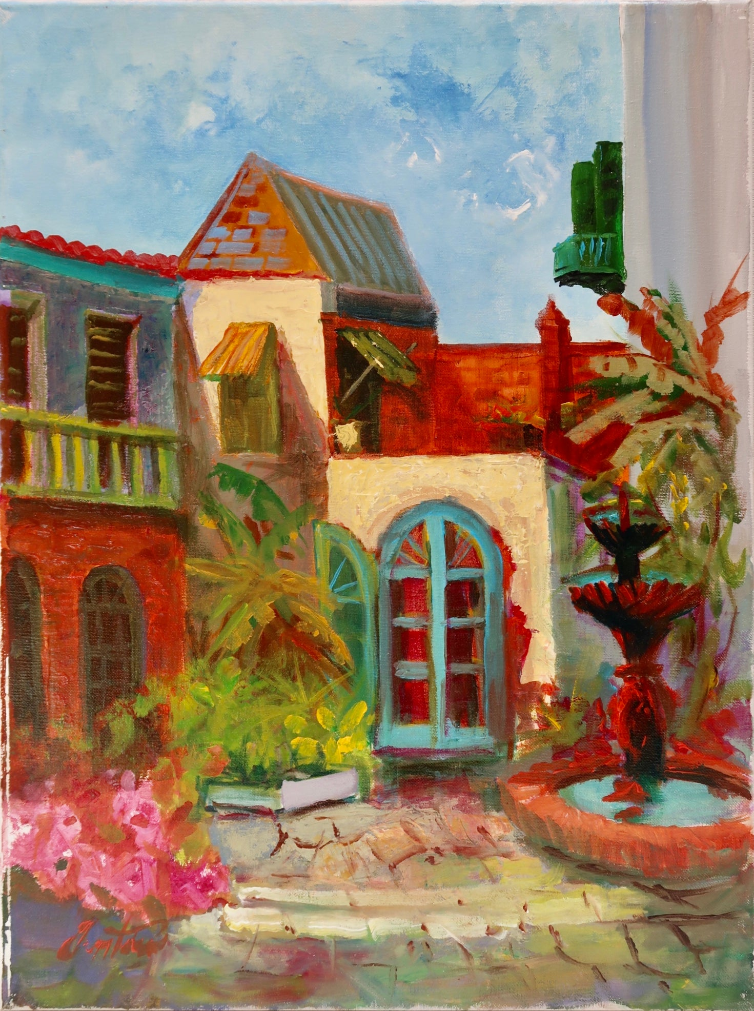"""Spanish Courtyard"" by Stan Fontaine"
