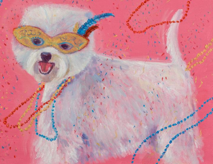 """Mardi Gras Mutts: Westie"" Original"