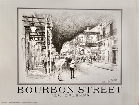 Bourbon Street Poster by Don Davey
