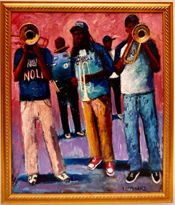 """Stooges Brass Band"" by Linda Lesperance"