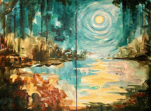 """Bayou Moon"" Original by Diane Millsap"