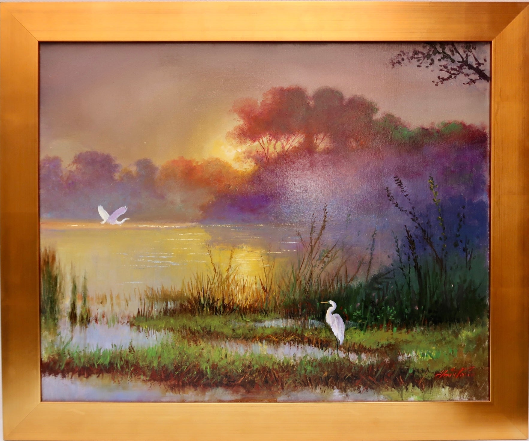 """Egrets"" by Stan Fontaine"