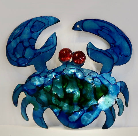 Metal Art Stone Crab Ornament