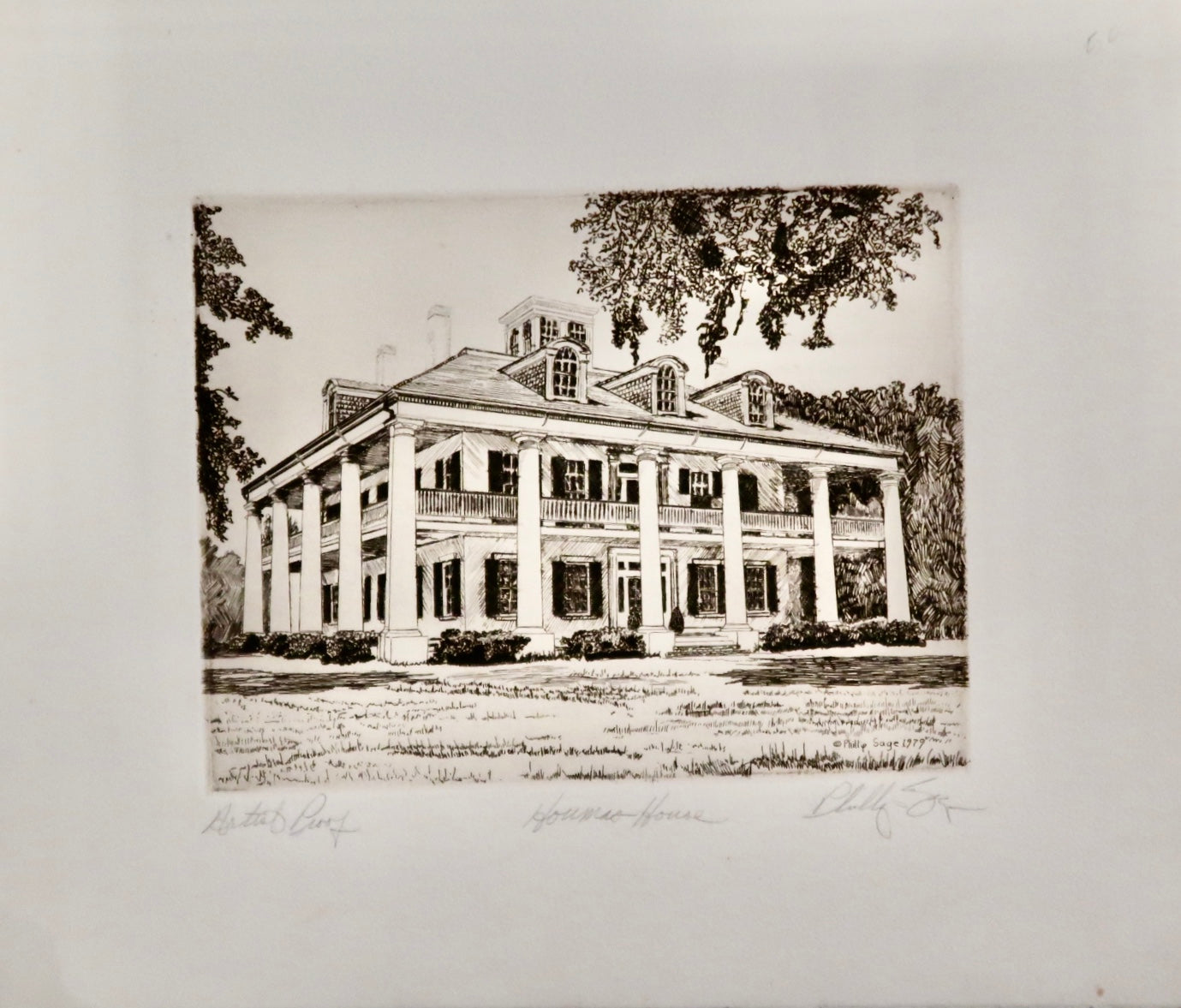 Houmas House Artist Proof by Phillip Sage