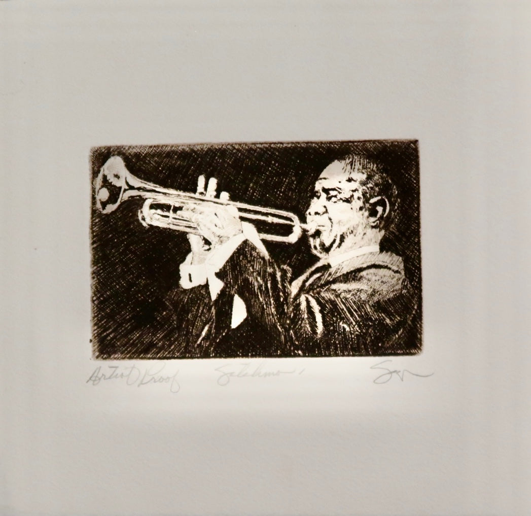 Satchmo I Artist Proof by Phillip Sage