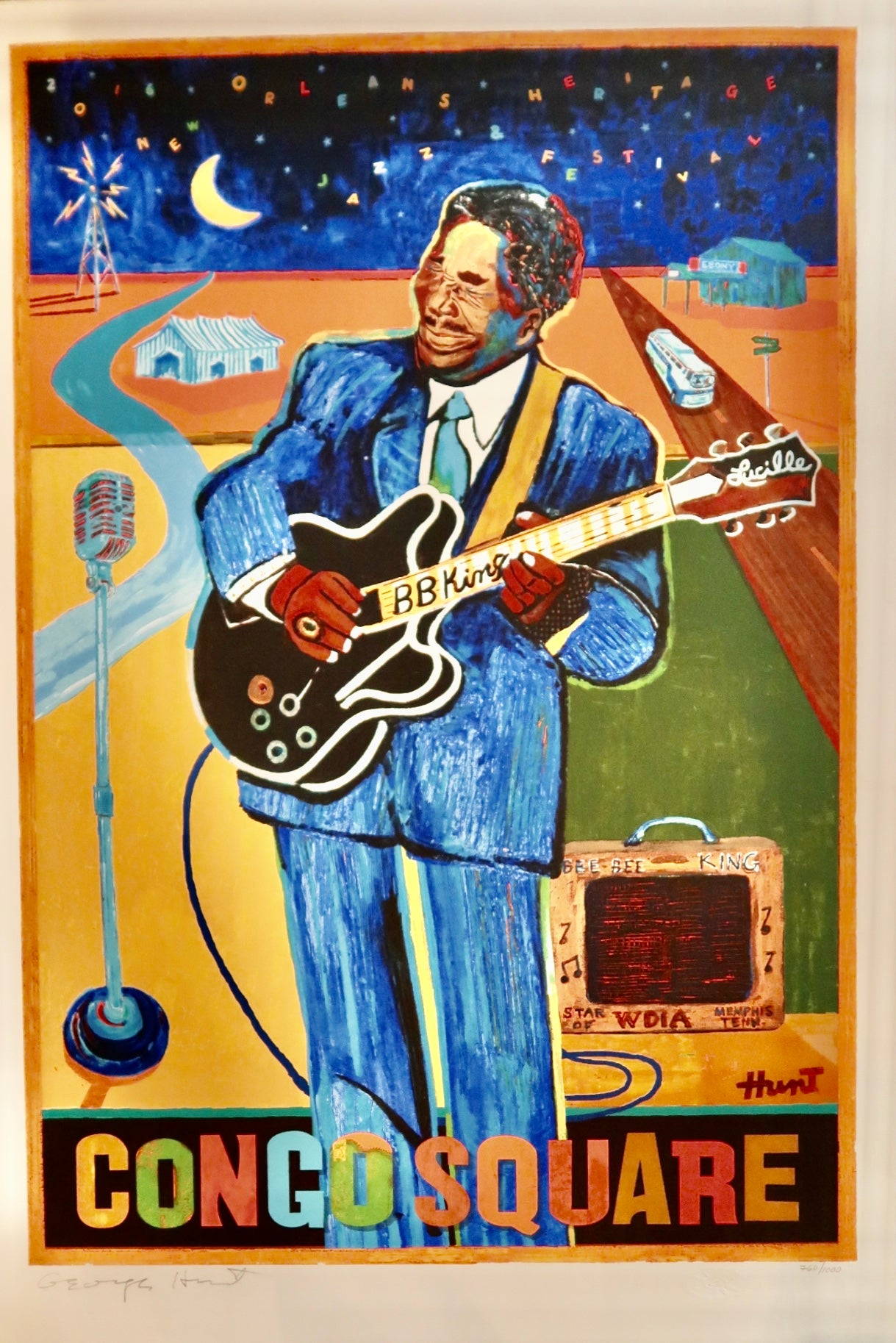 Congo Square Jazz Poster by George Hunt