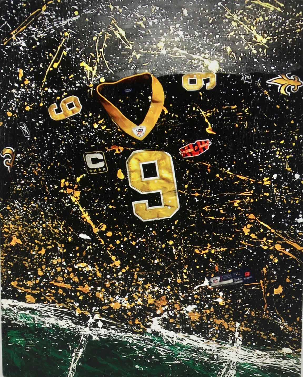 """Brees Wooden Print"" by Patrick Connick"
