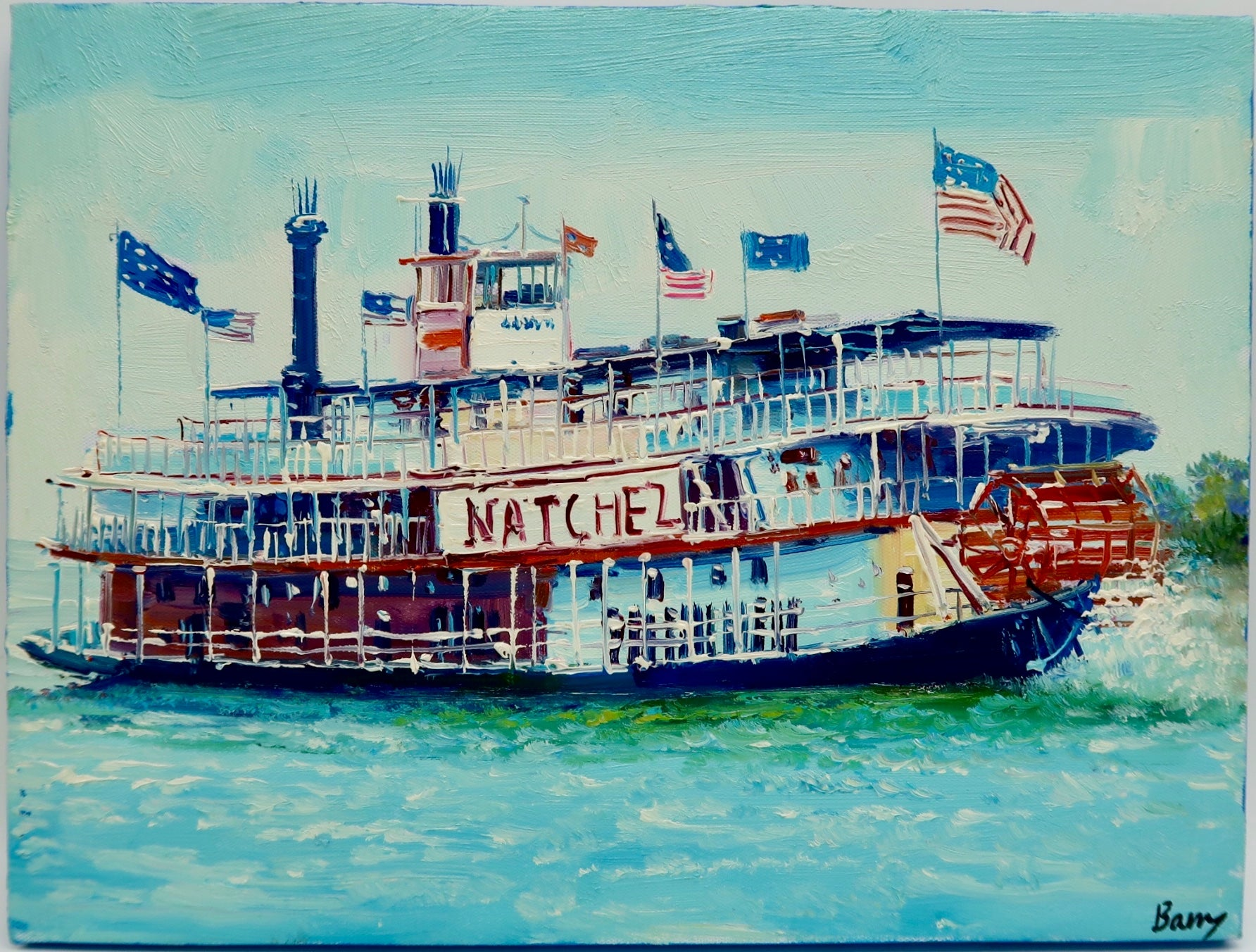 """Steamboat Natchez"" by Barry Ma"