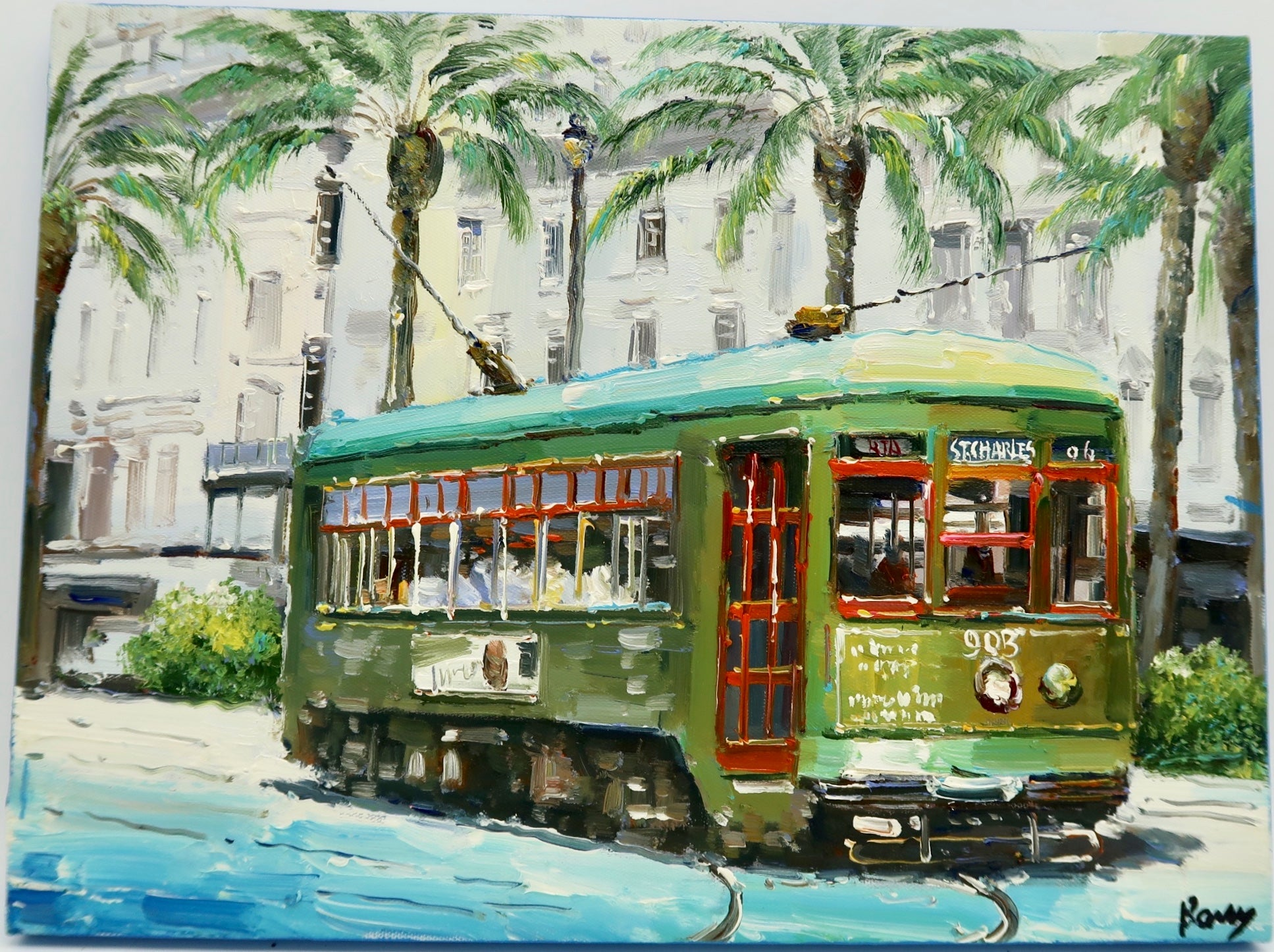 """Green Streetcar"" by Barry Ma"