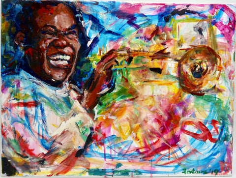 """Louis Armstrong"" by Winkie Fontaine"