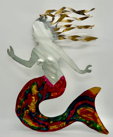 Metal Art Large Mermaid