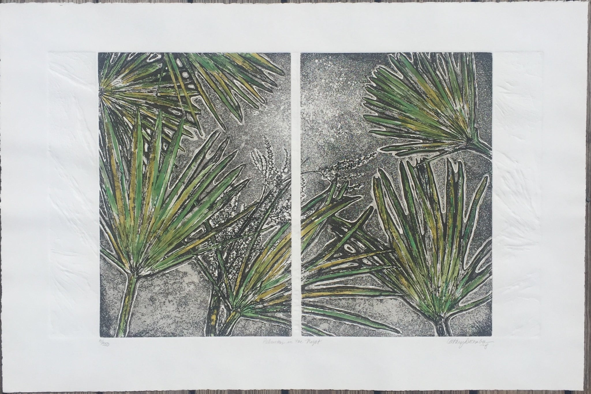 """Palmettos in the Night"" by Cathey December"