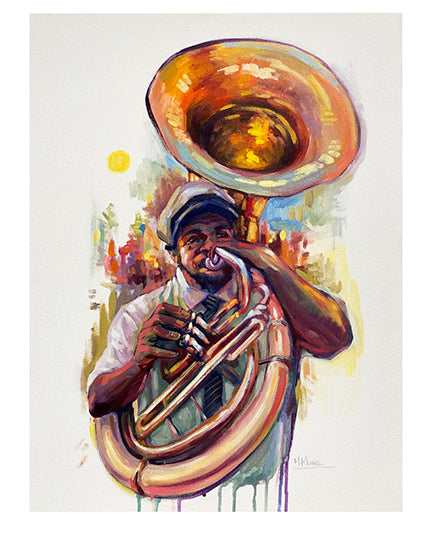 """Tuba Player"" Print by Mellissa Moore"