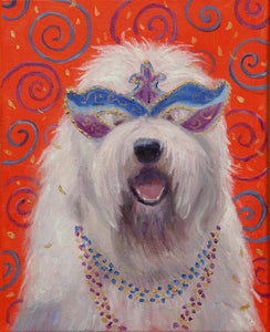 Mardi Gras Mutts: Old English Sheepdog