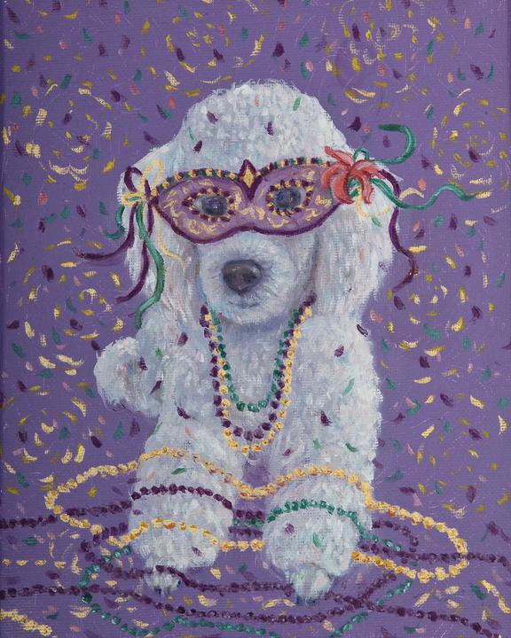 Mardi Gras Mutts: Poodle (White)