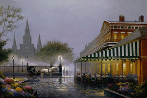 """Cafe In The Vieux Carre"" Giclee"