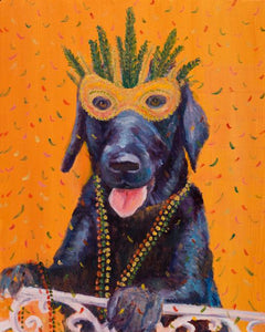 Mardi Gras Mutts: Lab (Black)