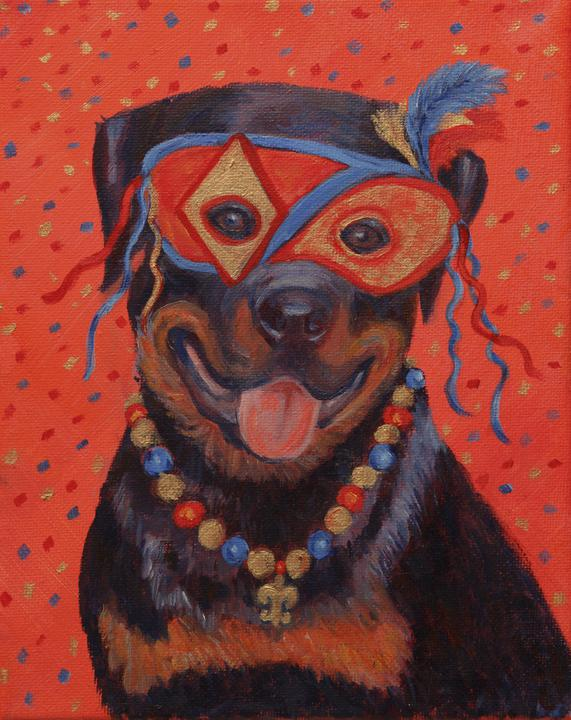 Mardi Gras Mutts: Rottie