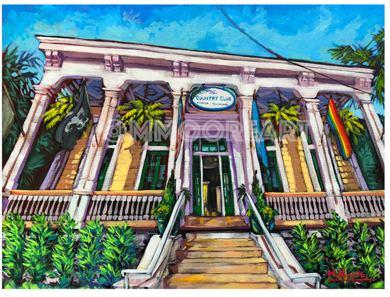 """The Country Club New Orleans"" Print by Mellissa Moore"