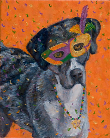 """Mardi Gras Mutts: Catahoula"" Print"