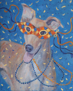 """Mardi Gras Mutts: Great Dane"" Print"