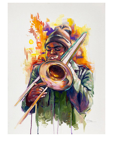 """Trombone Player"" Print by Mellissa Moore"