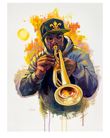 """Trumpet Player"" Print by Mellissa Moore"