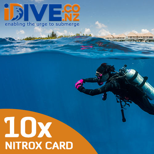 Auckland Scuba 10x Digital Nitrox Fill Concession Card