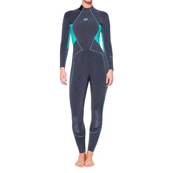 Bare 7mm Evoke Women's Full Suit Aqua