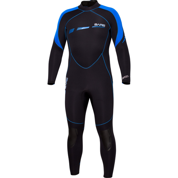 Bare 7mm Sport S-Flex Full Suit Men's, Blue